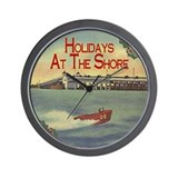 Jersey Shore Holidays Wall Clock