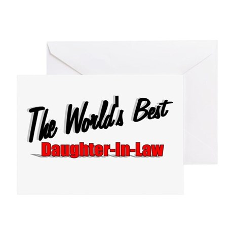 """The World's Best Daughter-In-Law"" Greeting Card"