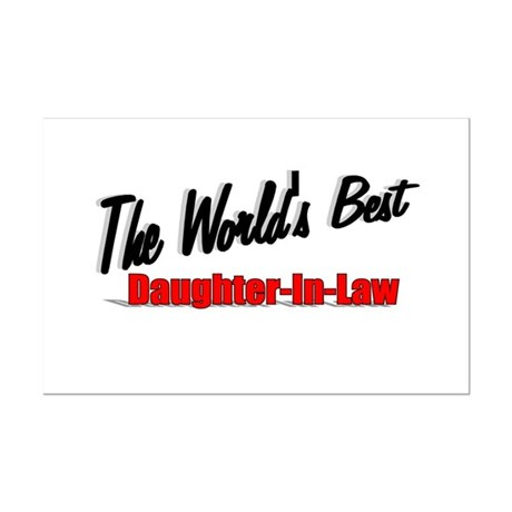 """The World's Best Daughter-In-Law"" Mini Poster Pri"