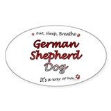 GSD Breathe Oval Decal