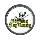 St. Patrick is my Homeboy Wall Clock