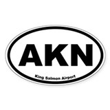 King Salmon Airport Oval Decal