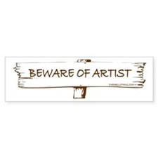 Beware of Artist Bumper Bumper Sticker