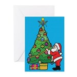 Santa's admiration Greeting Cards (Pk of 20)