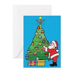 Santa's admiration Greeting Cards (Pk of 10)