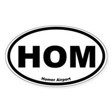 Homer Airport Oval Decal