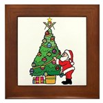 Santa and our star Framed Tile