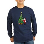 Santa and our star Long Sleeve Dark T-Shirt