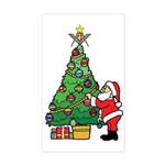 Santa and our star Sticker (Rectangle)