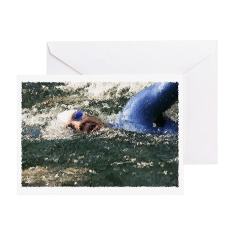 OPEN WATER SWIMMER Greeting Card
