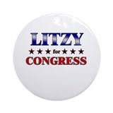 LITZY for congress Ornament (Round)