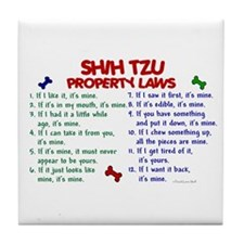 Shih Tzu Property Laws 2 Tile Coaster