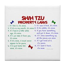 Shih Tzu Property Laws 2 Tile Coaster