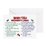 Shih Tzu Property Laws 2 Greeting Card