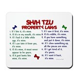 Shih Tzu Property Laws 2 Mousepad