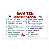 Shih Tzu Property Laws 2 Rectangle Decal