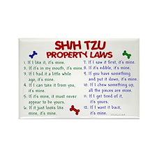 Shih Tzu Property Laws 2 Rectangle Magnet