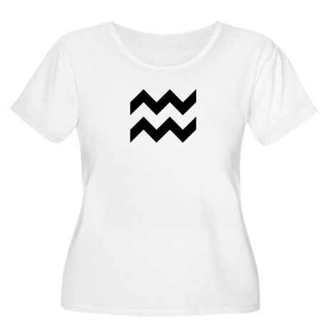 Zodiac - Aquarius Women's Plus Size Scoop Neck T-S