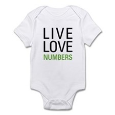 Live Love Numbers Infant Bodysuit