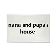 Cute Nanas house Rectangle Magnet