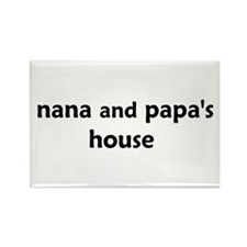 Cute Nana and papa Rectangle Magnet