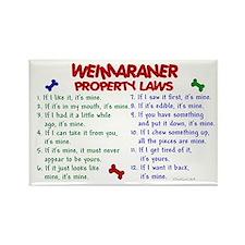 Weimaraner Property Laws 2 Rectangle Magnet