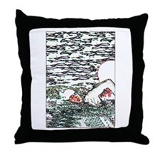 OPEN WATER SWIM Throw Pillow