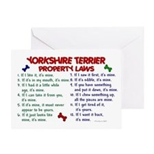 Yorkshire Terrier Property Laws 2 Greeting Card