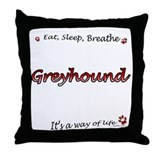Greyhound Breathe Throw Pillow