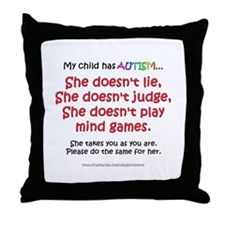 No Games (Girl) Throw Pillow