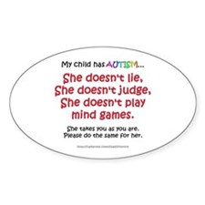 No Games (Girl) Oval Decal