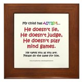 No Games (Boy) Framed Tile