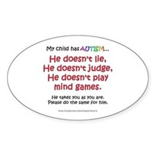 No Games (Boy) Oval Decal