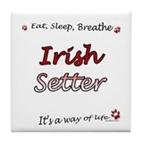 Irish Setter Breathe Tile Coaster