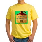 Wasted by Steve Karbitz Yellow T-Shirt