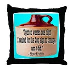 Wasted by Steve Karbitz Throw Pillow