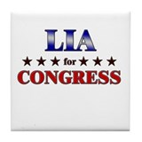 LIA for congress Tile Coaster