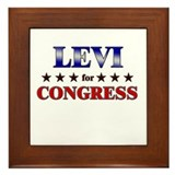 LEVI for congress Framed Tile