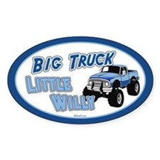 Little Willy Oval Decal