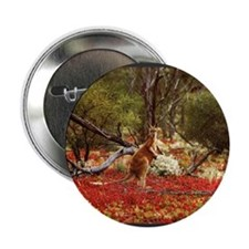 "Red Kangaroo 2.25"" Button (100 pack)"