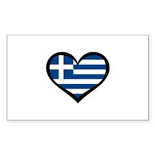 Greece Love Greek Rectangle Decal