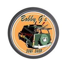 Bobby G's Surf Shop Wall Clock