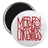 "Merry Christmas Red 2.25"" Magnet (10 pack)"