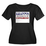 LEANNA for congress Women's Plus Size Scoop Neck D