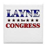 LAYNE for congress Tile Coaster