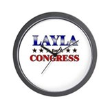 LAYLA for congress Wall Clock