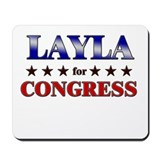LAYLA for congress Mousepad