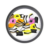 Licorice Allsorts Wall Clock