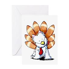 Westie Turkey Greeting Card