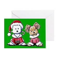 Mr. & Mrs. Santa Paws Greeting Card